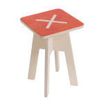 Square chair, red