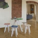 Leiunurk: Ümmargune laud, roheline