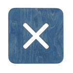 Väike kandiline tool / taburet, sinine
