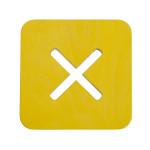 Väike kandiline tool / taburet, kollane