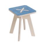 Leiunurk: Väike kandiline tool, sinine