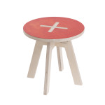 Small round chair, red