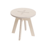 Small round chair, white