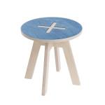 Leiunurk: Väike ümmargune tool, sinine