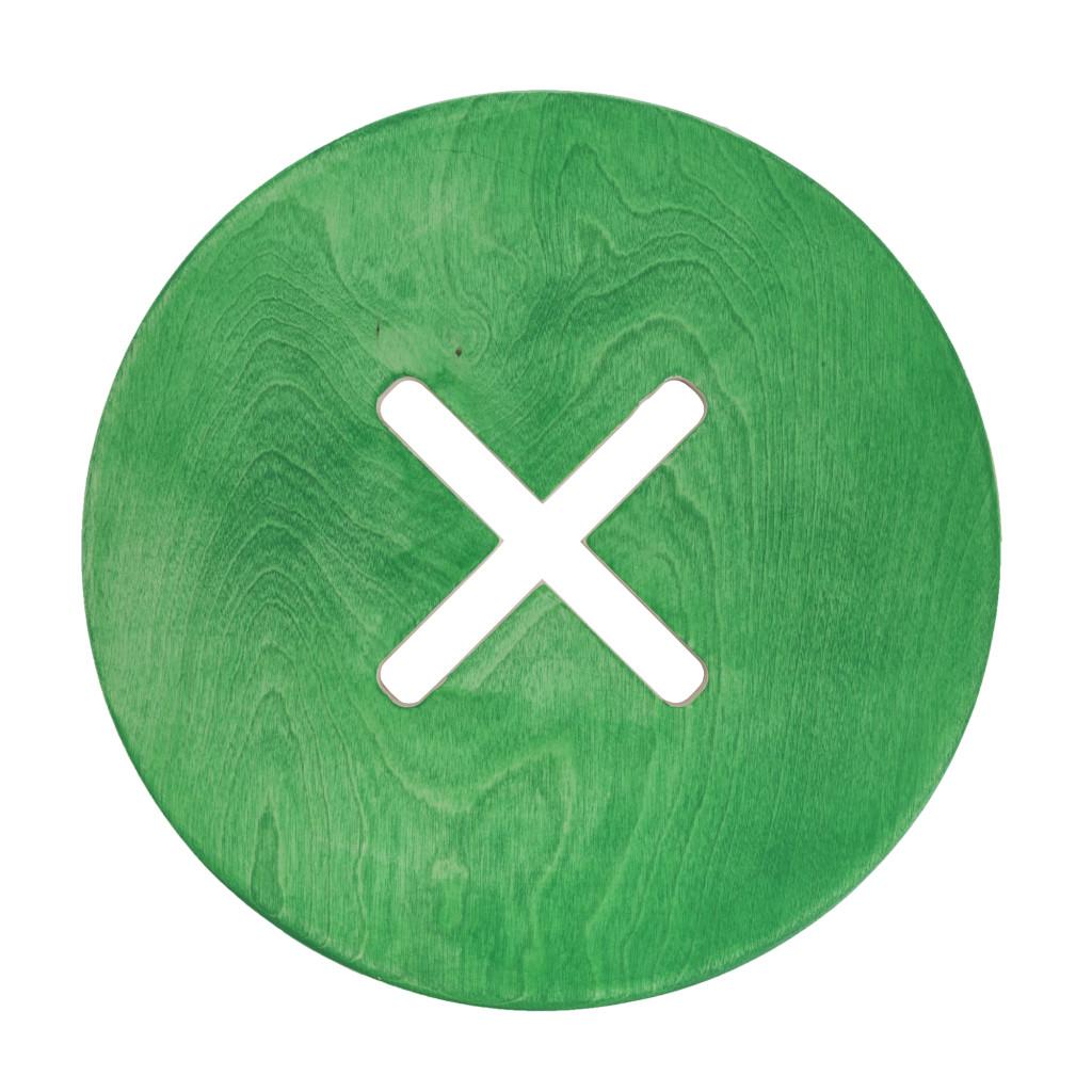 Pieni pyöreä tuoli, vihreä
