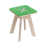 Small square chair, green