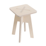 Square chair, white