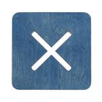 Neliskulmainen tuoli, sininen