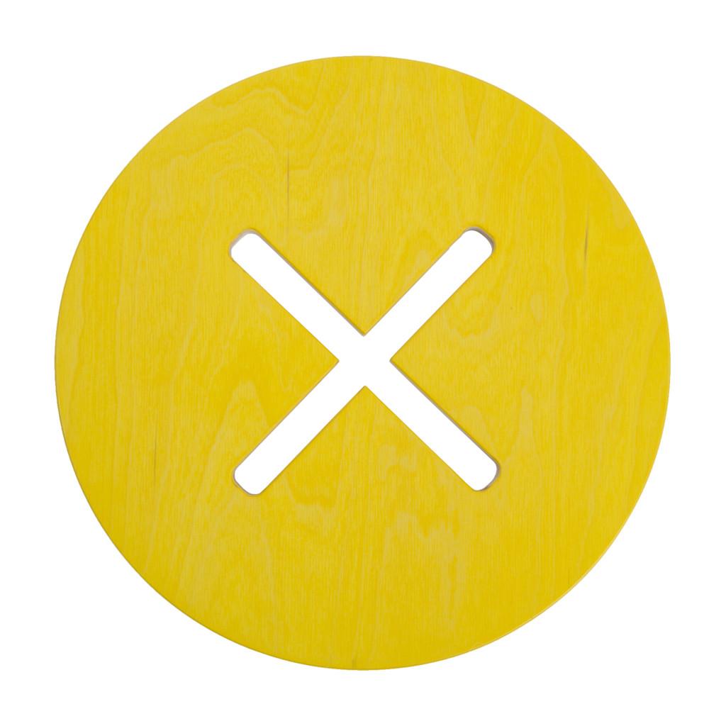 Pyöreä tuoli, keltainen