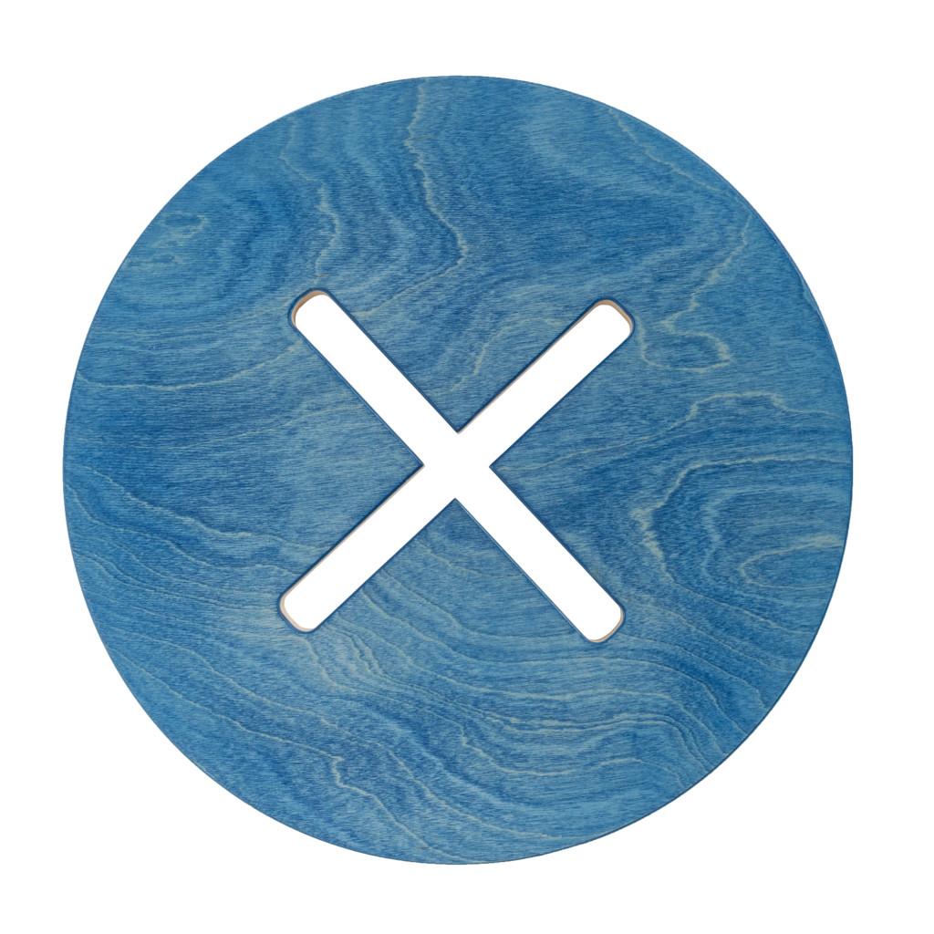 Pyöreä tuoli, sininen