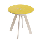 Round table, yellow