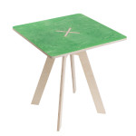 Square table, green