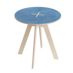 Round table, blue