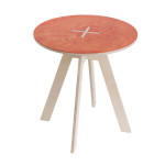 Round table, red