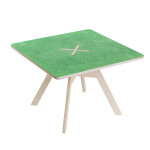 Small square table, green
