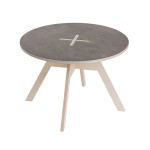 Small round table, black