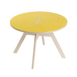 Small round table, yellow