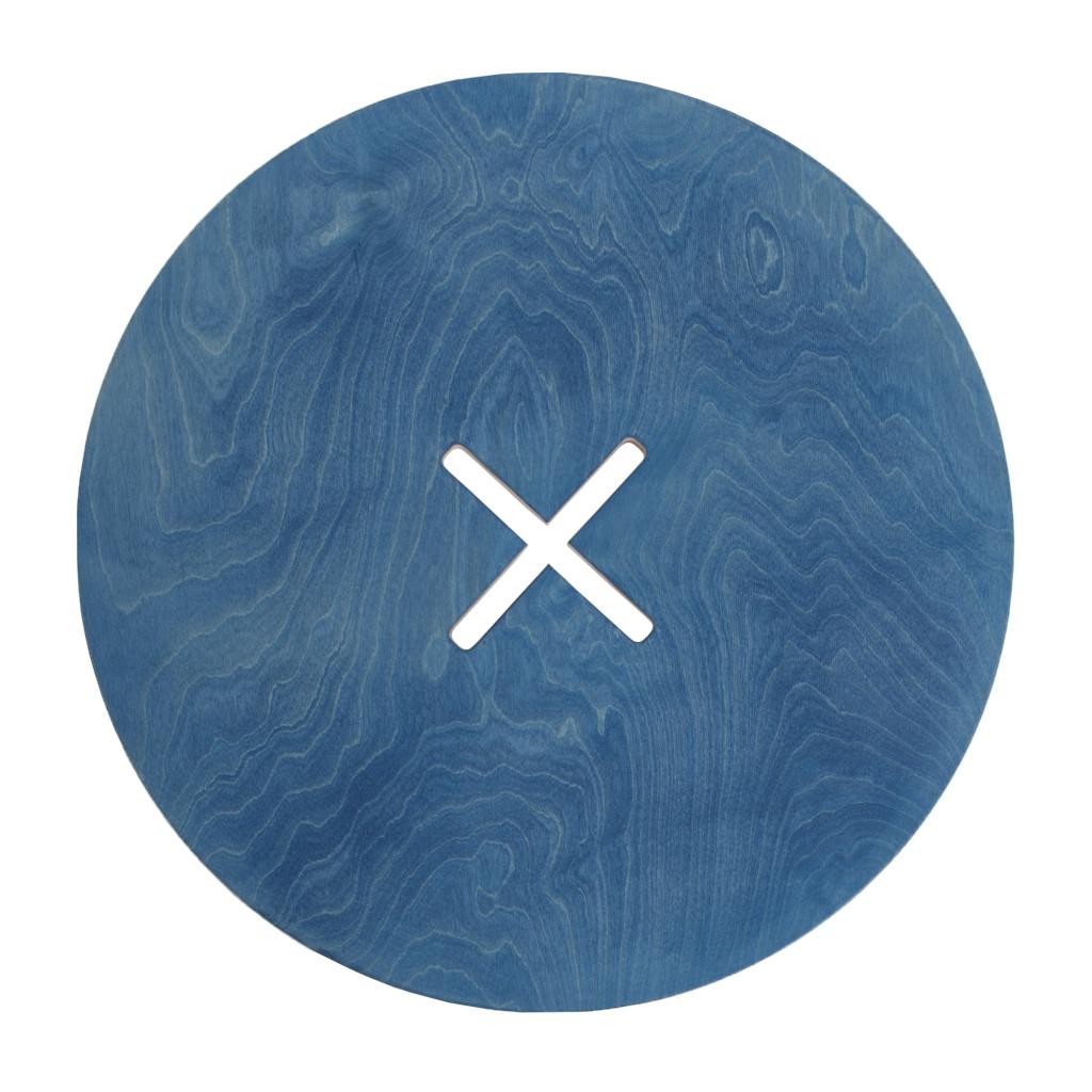 Pieni pyöreä pöytä, sininen