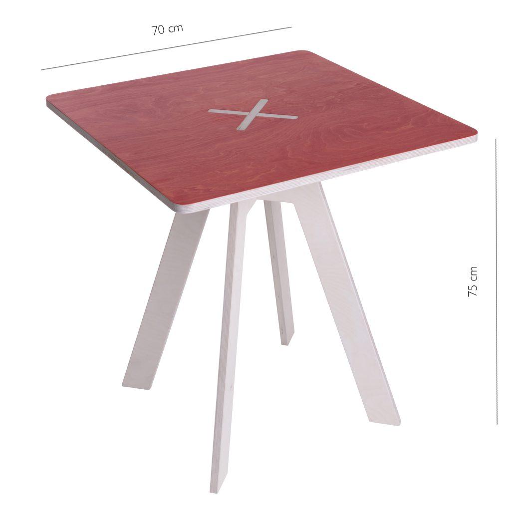 Leiunurk: Kandiline laud, punane
