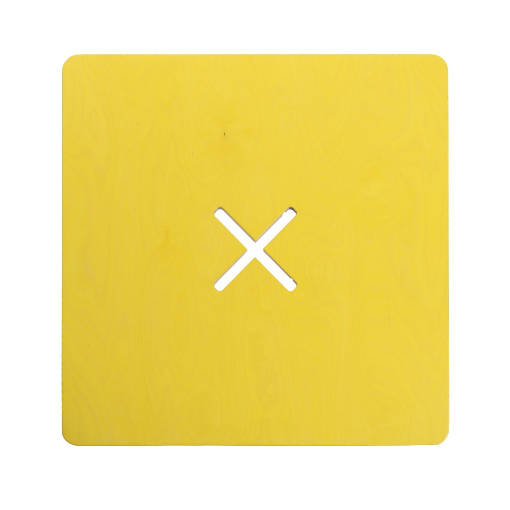 Väike kandiline laud, kollane