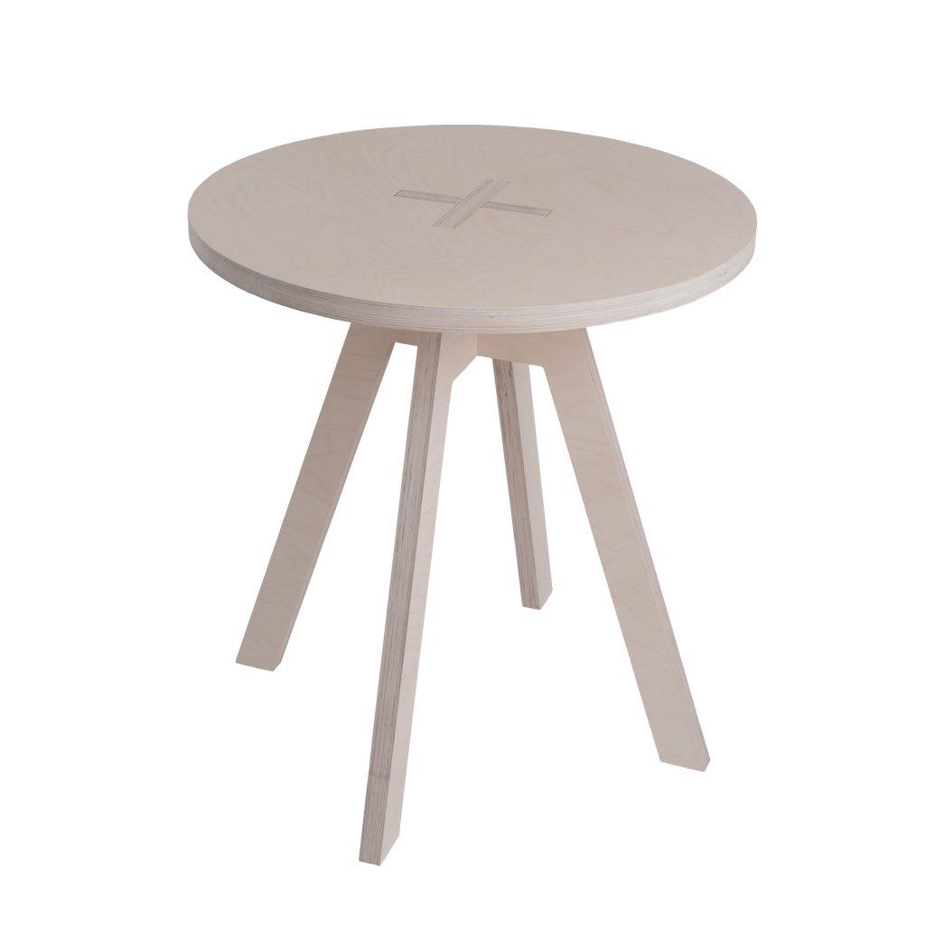 Ümmargune laud, valge