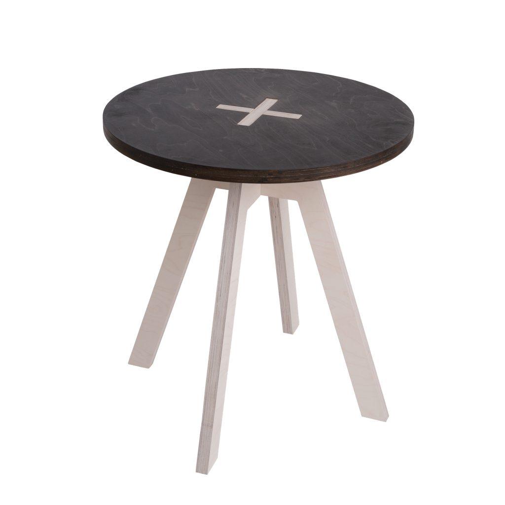 Ümmargune laud, must
