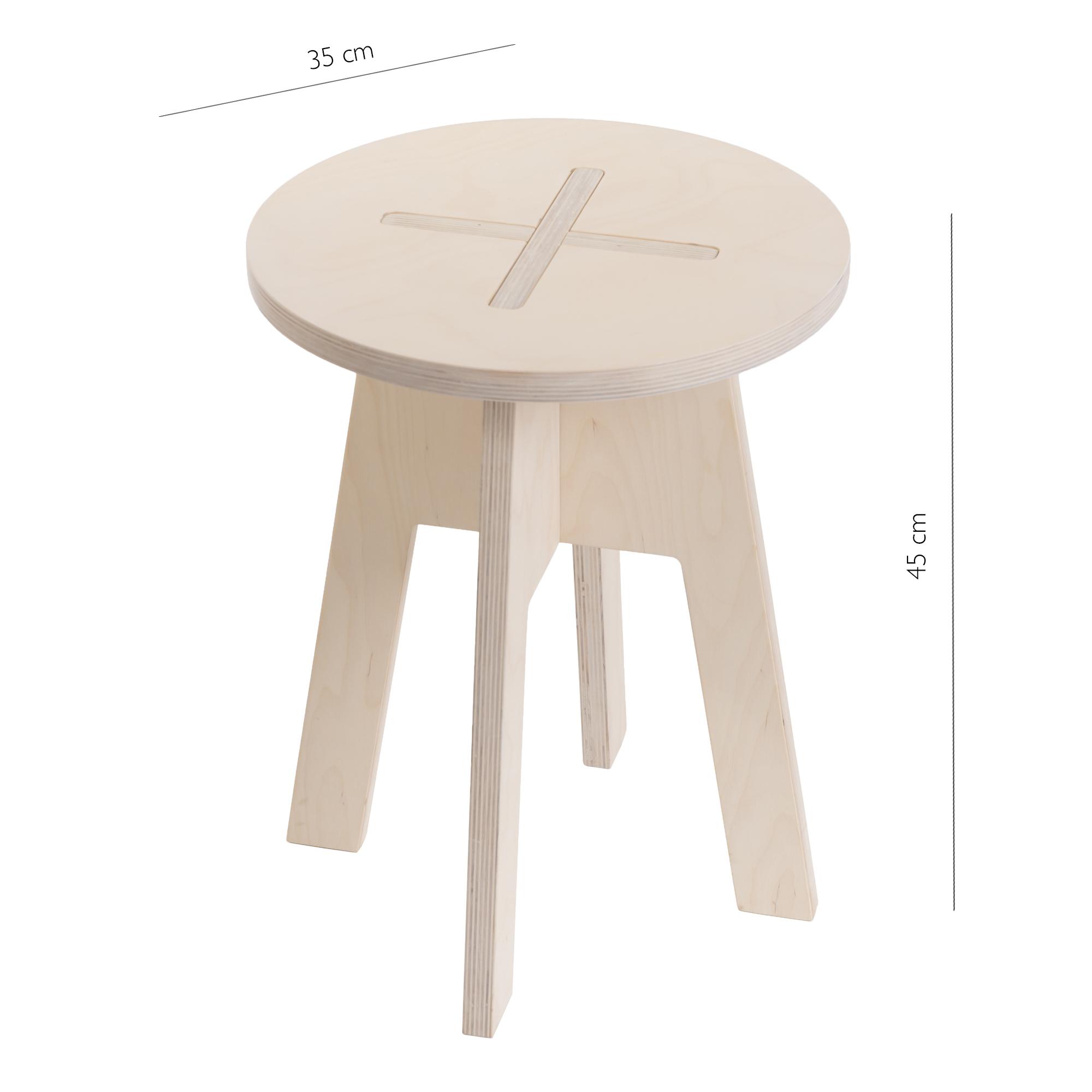 Round chair, white