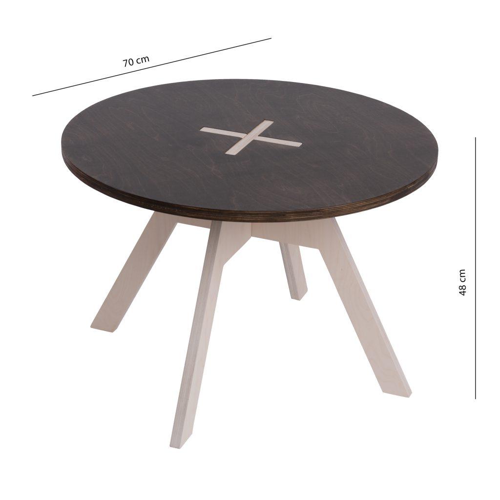 Väike ümmargune laud, must
