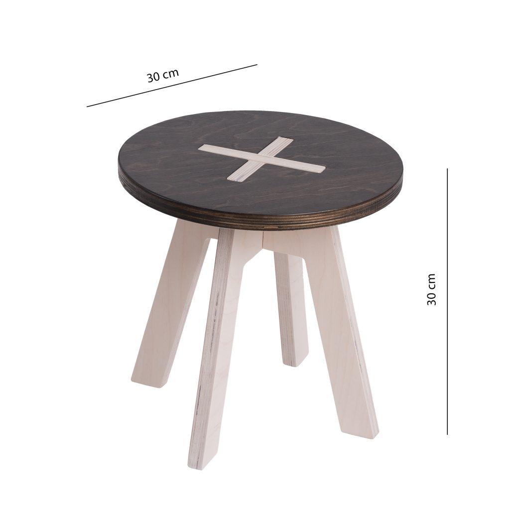 Leiunurk: Väike ümmargune tool, must