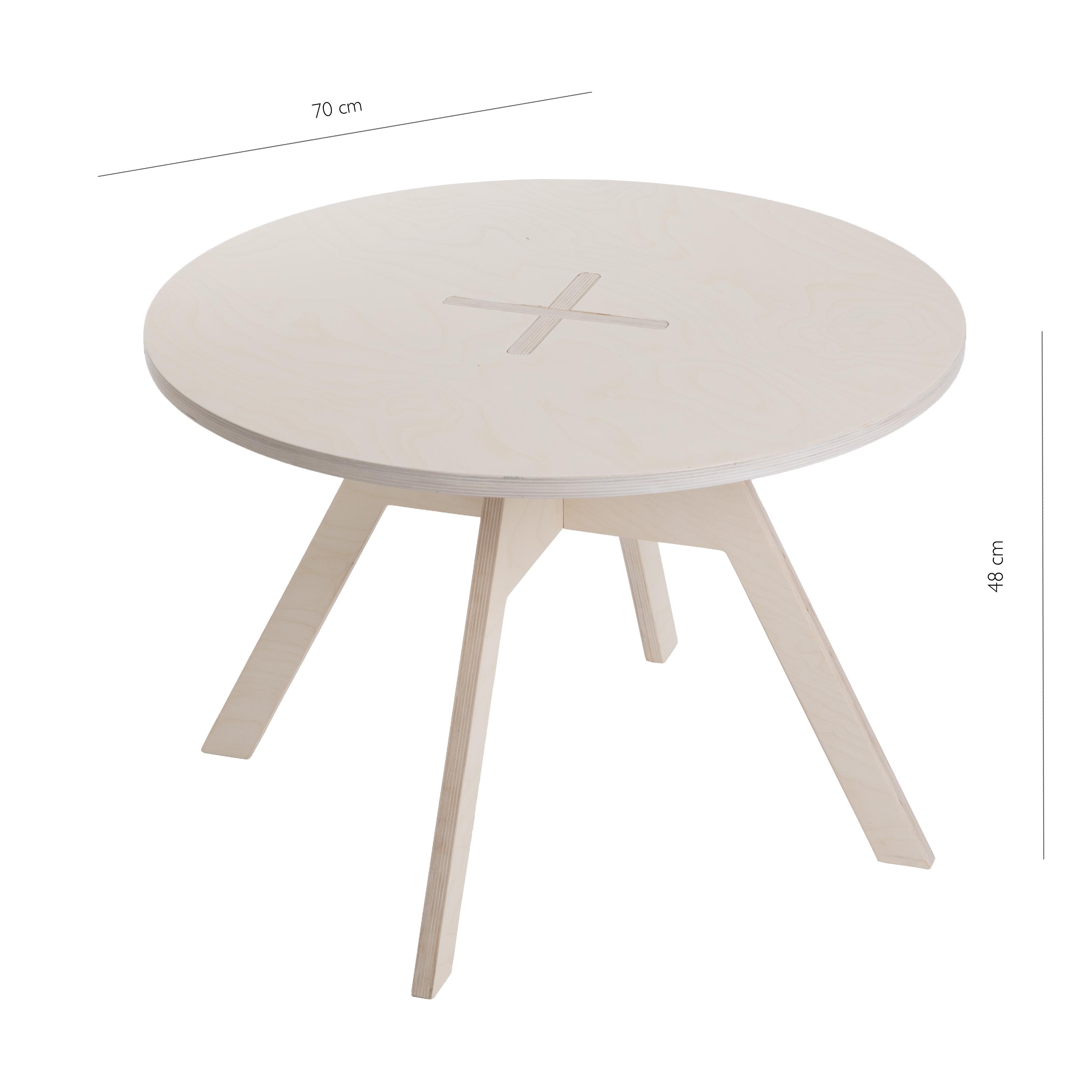 Small round table, white