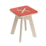 Small square chair, red