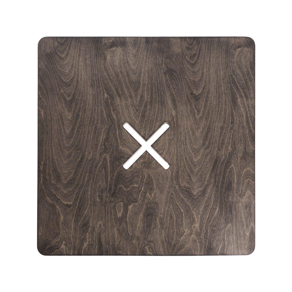 Väike kandiline laud, must