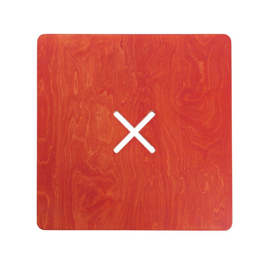 Pieni neliskulmainen pöytä, punainen