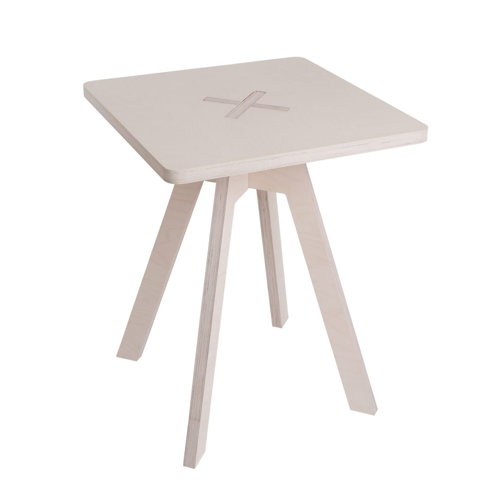 Square table, white