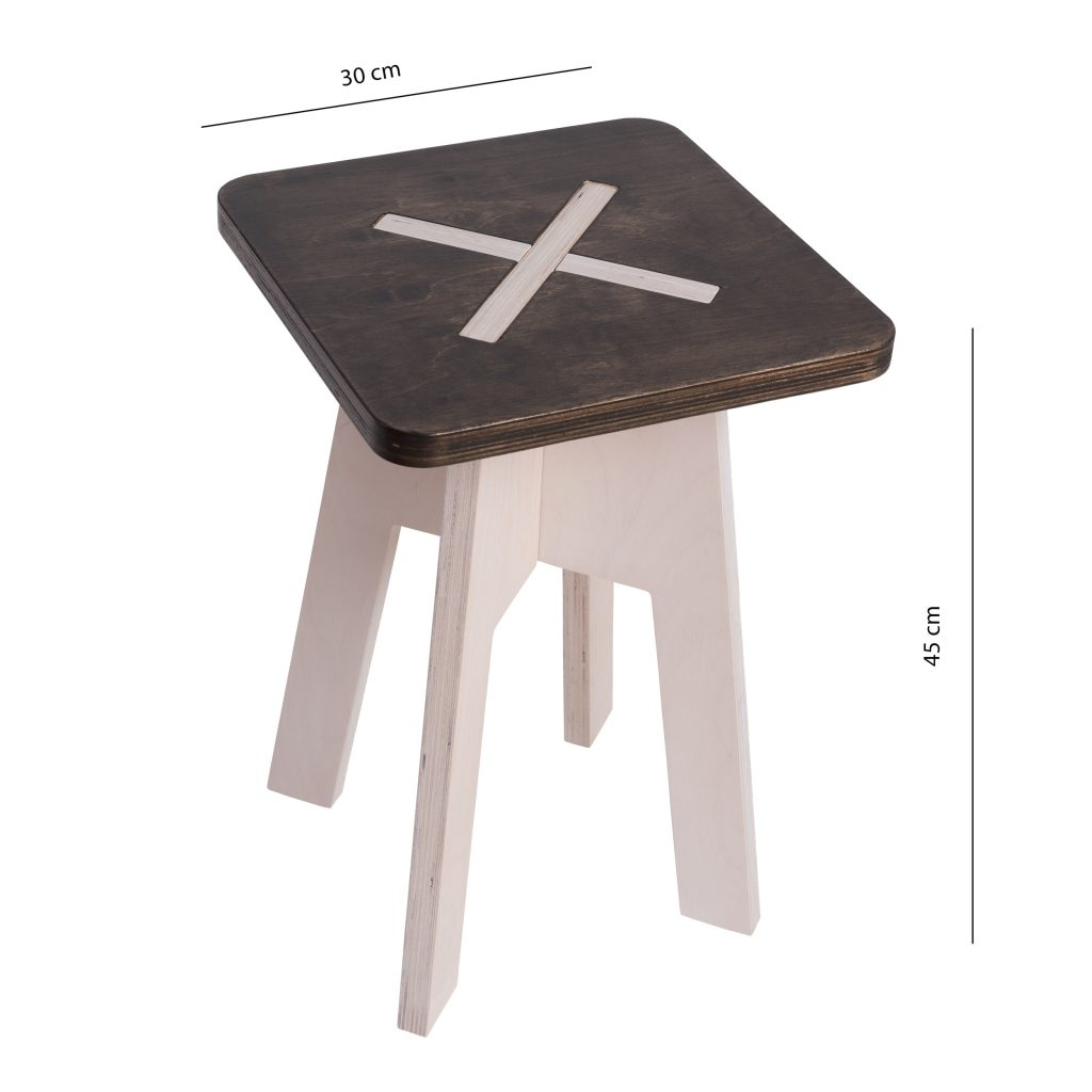 Square chair, black