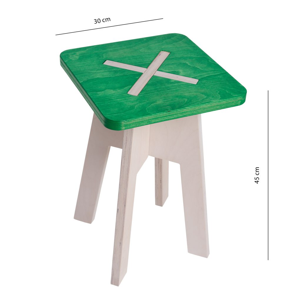Square chair, green