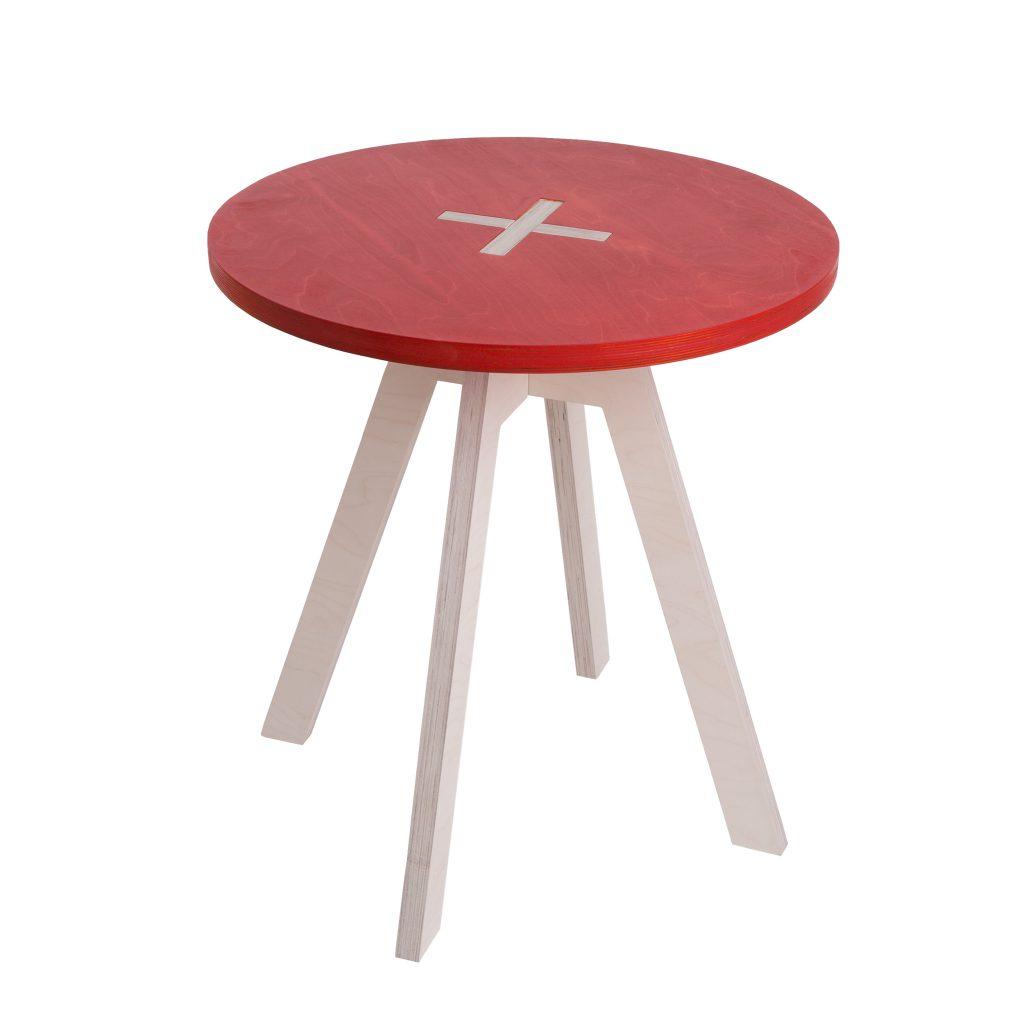 Pyöreä pöytä, punainen
