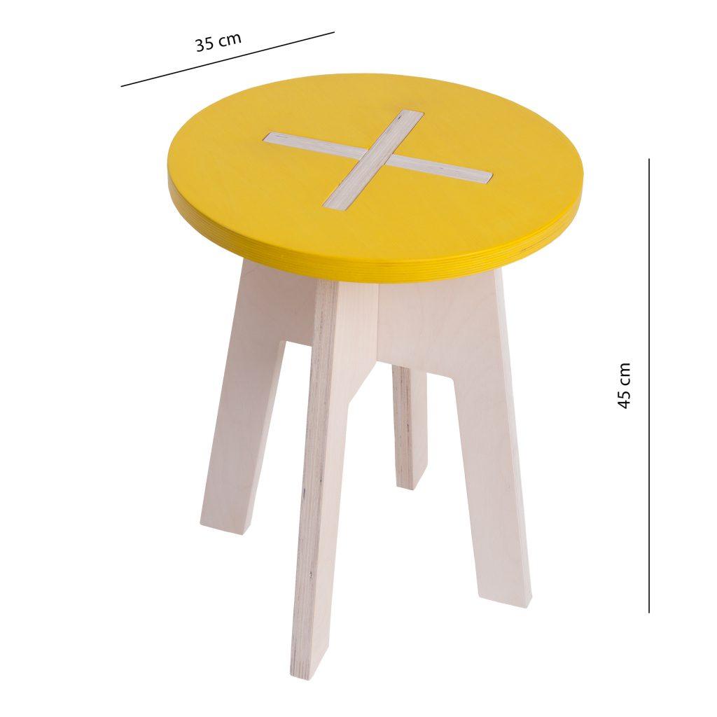 Round chair, yellow