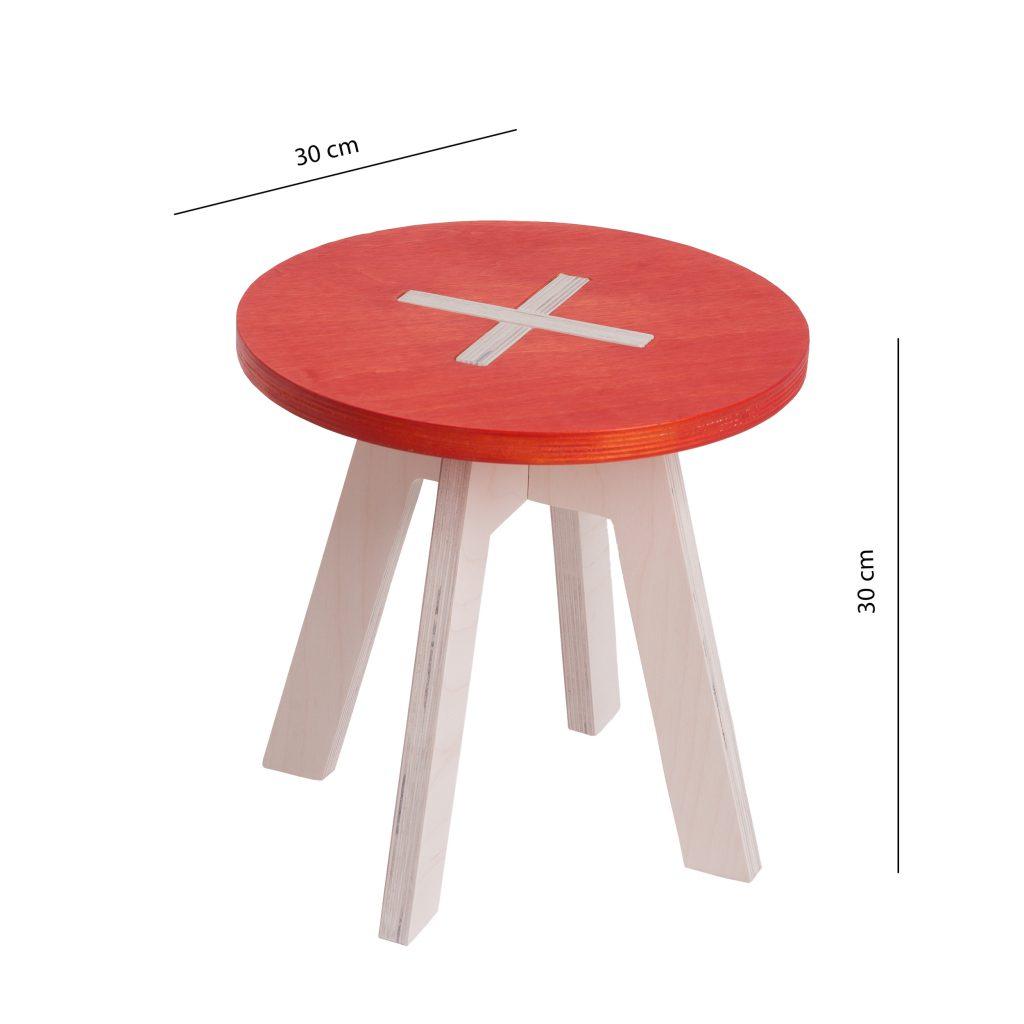 Pieni pyöreä tuoli, punainen