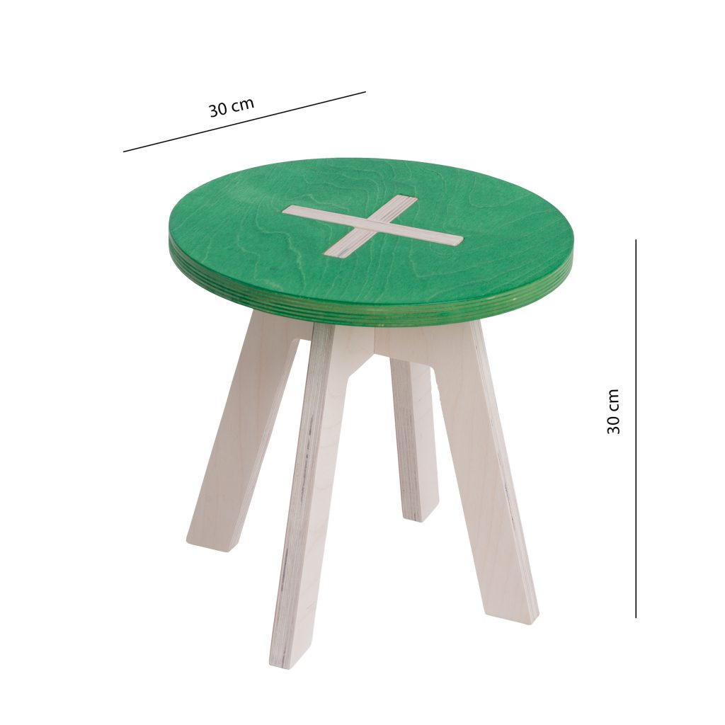 Small round chair, green
