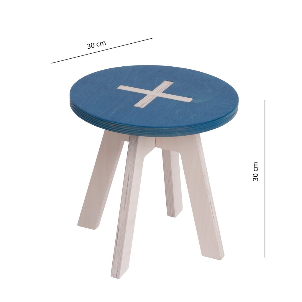 Small round chair, blue