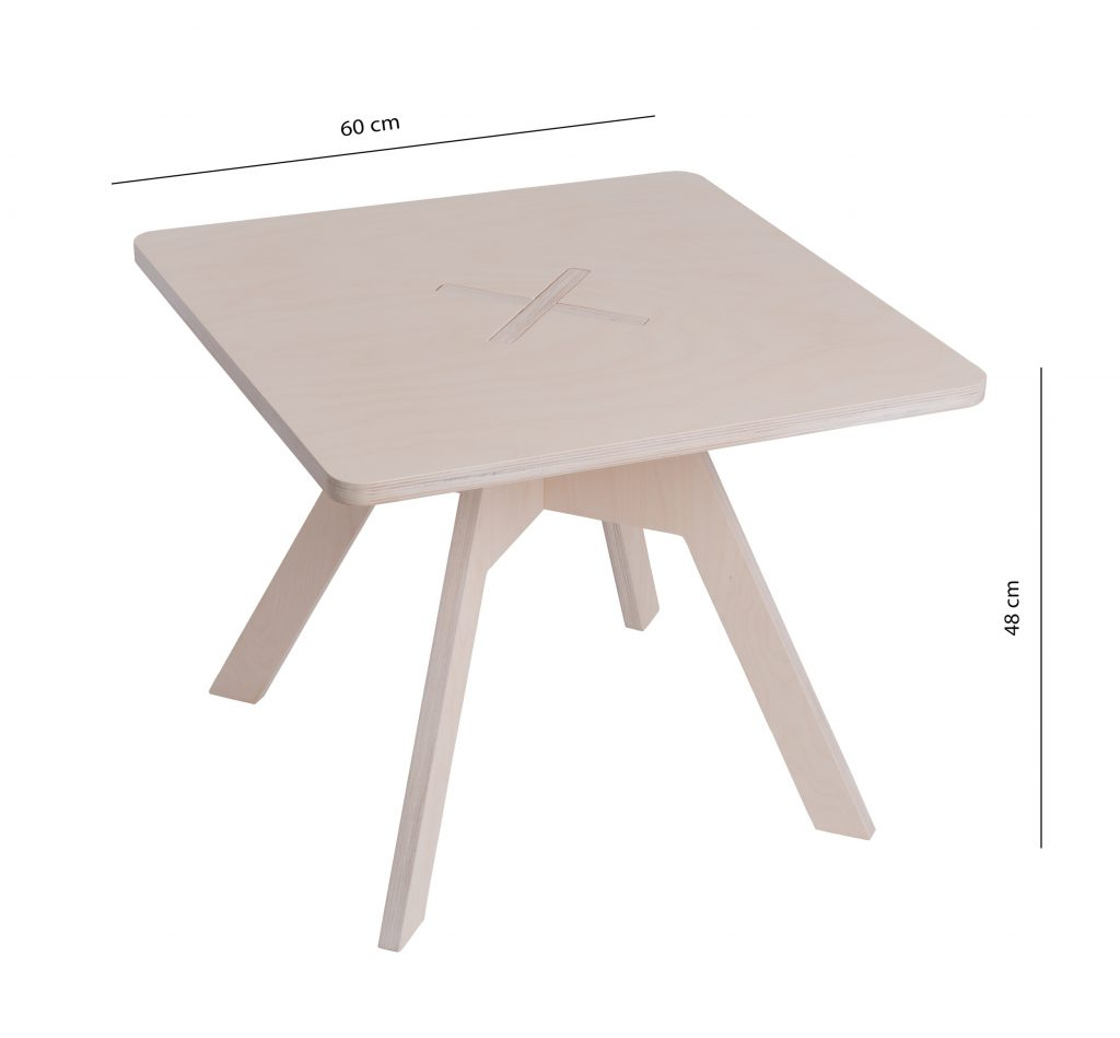 Small square table, white