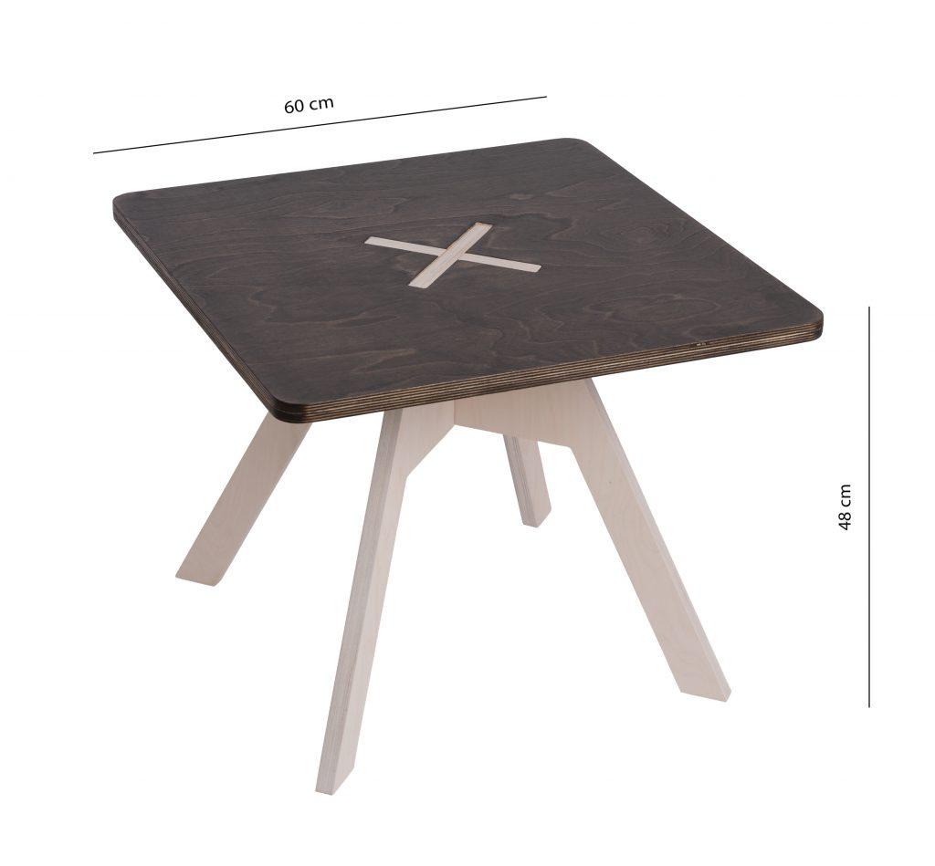 Pieni neliskulmainen pöytä, musta